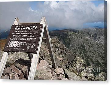 Appalachian Trail Mount Katahdin Canvas Print by Glenn Gordon