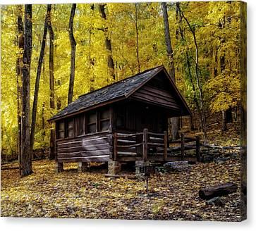 Appalachian Trail Shelter Cabin Canvas Print by Mountain Dreams