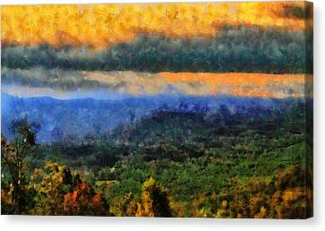 Appalachian Sunrise Canvas Print by Dan Sproul