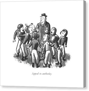 Appeal To Authority Canvas Print by William Steig