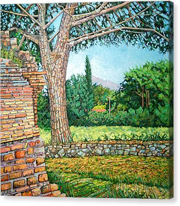 Appia Antica, View, 2008 Canvas Print by Noel Paine