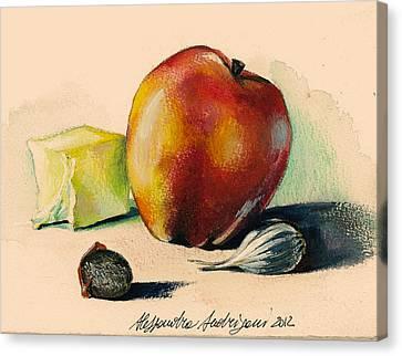 Apple Canvas Print by Alessandra Andrisani