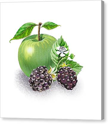Apple And Blackberries Canvas Print