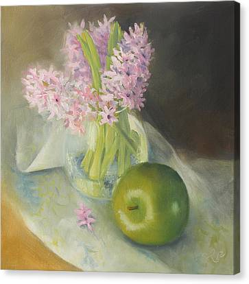 Apple And Hyacinth Canvas Print