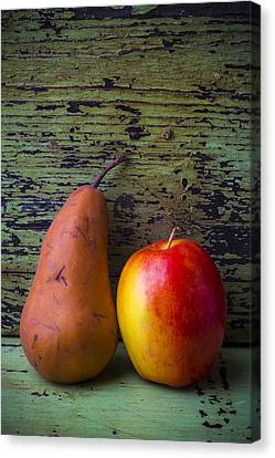 Apple And Pear Canvas Print