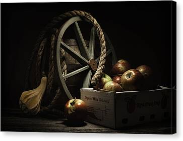 Wagon Wheels Canvas Print - Apple Basket Still Life by Tom Mc Nemar