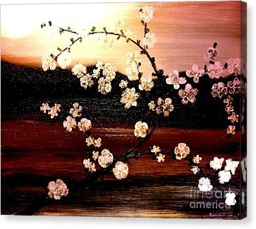Apple Blossom Time Canvas Print by Denise Tomasura