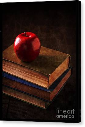 Book Collecting Canvas Print - Apple For Teacher by Edward Fielding