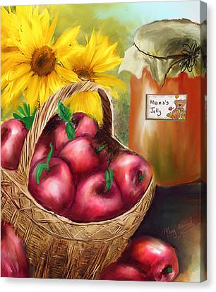 Canvas Print featuring the digital art Apple Harvest by Mary Almond