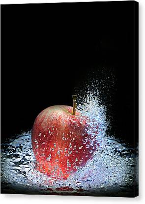 Canvas Print featuring the photograph Apple by Krasimir Tolev