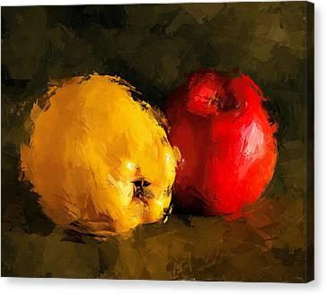 Interior Still Life Canvas Print - Apple Lemon Still Life by Yury Malkov
