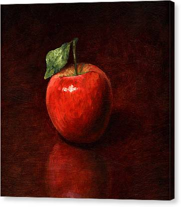 Apple Canvas Print by Mark Zelmer