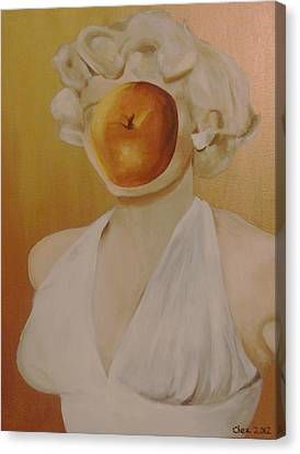 Apple Of Her Eye Canvas Print