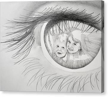 Apple Of My Eye Canvas Print by Julie Senf