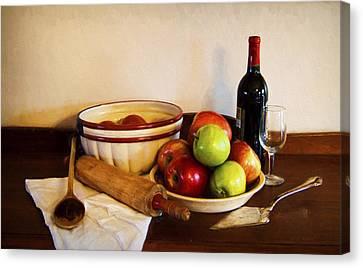 Apple Pie Impressions Canvas Print