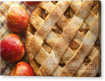 Apple Pie With Lattice Crust Canvas Print by Diane Diederich