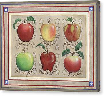 Apple Sampler Two Canvas Print by Linda Mears