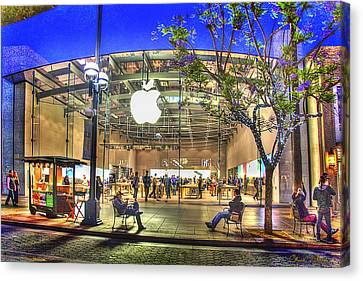 Apple Store - Santa Monica Canvas Print by Chuck Staley