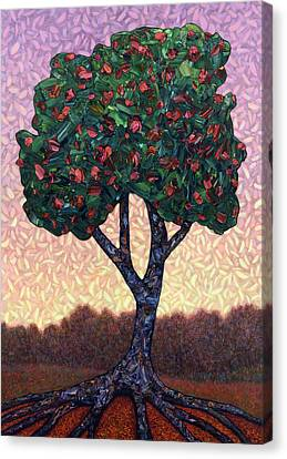 Painterly Canvas Print - Apple Tree by James W Johnson