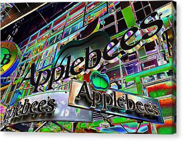 Applebee's Restaurant Sign At New York City Canvas Print