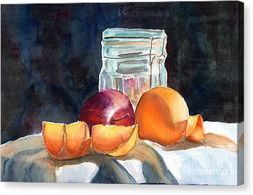 Apples And Oranges Canvas Print by Mohamed Hirji