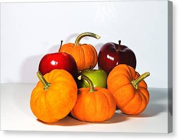 Apples And Pumpkins2 Canvas Print by Cecil Fuselier