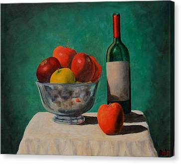 Apples And Wine Canvas Print