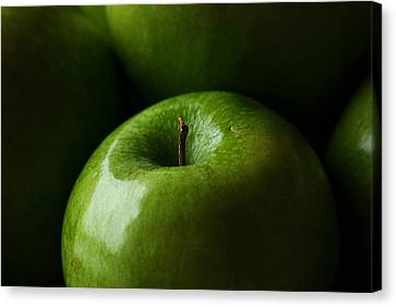 Canvas Print featuring the photograph Apples Green by Lorenzo Cassina