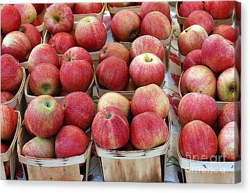 Apple Canvas Print - Apples In Small Baskets by Paul Velgos