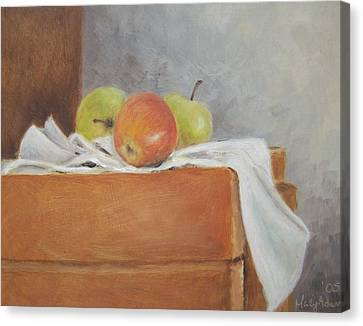 Apples Canvas Print by Mary Adam