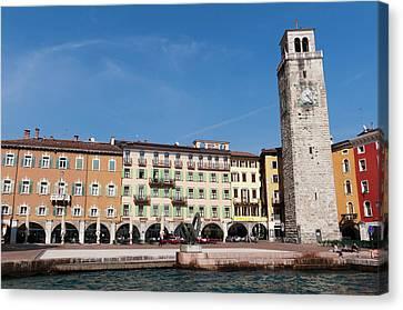 Apponale Tower, Piazza 3 Novembre, Riva Canvas Print by Sergio Pitamitz