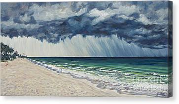 Approaching Gail Canvas Print by Danielle  Perry