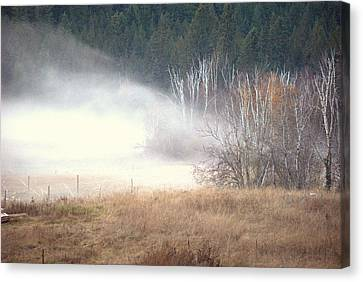 Canvas Print featuring the photograph Approaching Mist by Michael Dohnalek