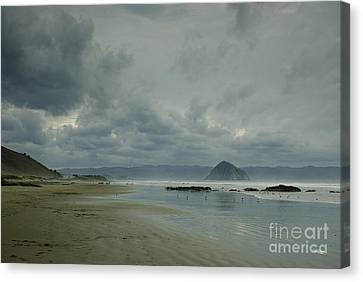 Approaching Storm - Morro Rock Canvas Print