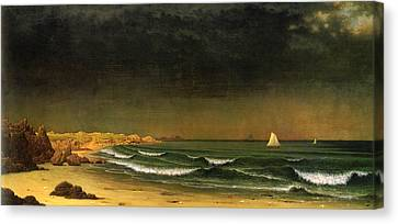 Approaching Storm Near Newport Beach Canvas Print by Martin Heade