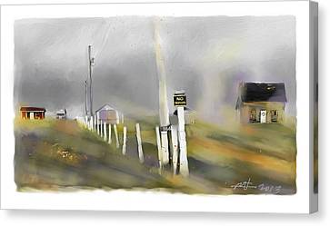 Approaching Storm Northwest Cape P.e.i Canvas Print by Bob Salo