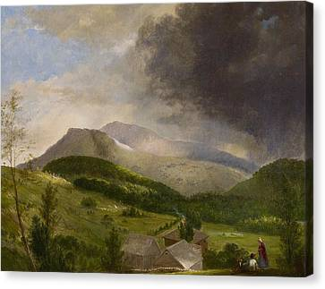 Approaching Storm  White Mountains Canvas Print by Alvan Fisher