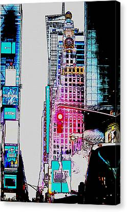 Times Square Canvas Print - Approaching Times Square by Teresa Mucha
