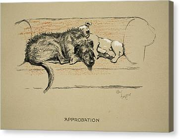 Approbation, 1930, 1st Edition Canvas Print by Cecil Charles Windsor Aldin