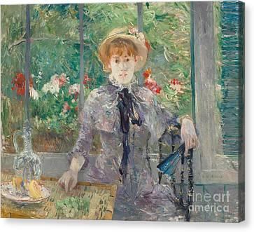 Apres Le Dejeuner Canvas Print by Berthe Morisot
