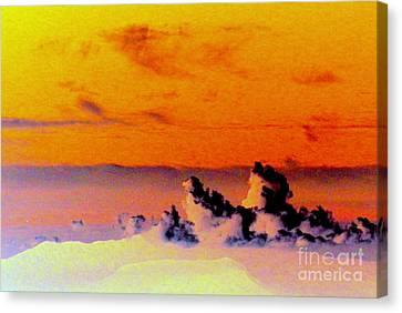 Apricot Sky Canvas Print