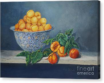Apricots And Peaches Canvas Print by Enzie Shahmiri
