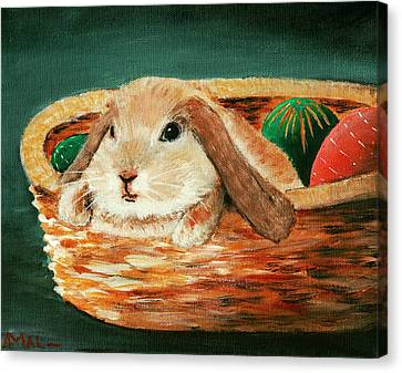 April Bunny Canvas Print by Anastasiya Malakhova
