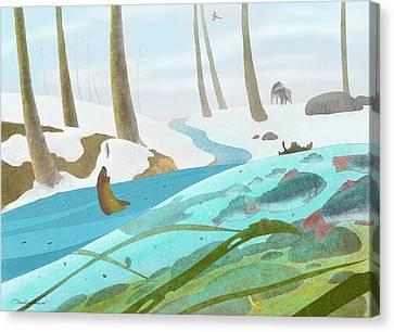 April Forest Canvas Print