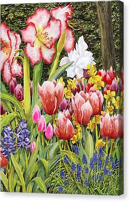 April Canvas Print by Karen Wright