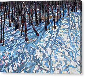 Snow Melt Canvas Print - April Melt by Phil Chadwick
