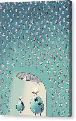 April Shower Canvas Print