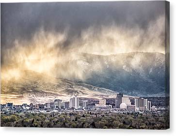 April Showers Over Reno Canvas Print