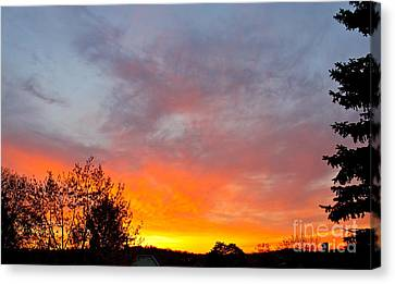 April Sunrise Canvas Print
