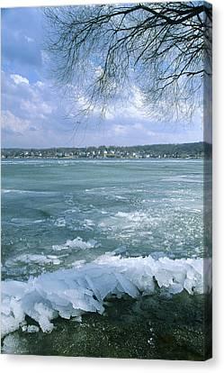 Lake Geneva Wisconsin Canvas Print - April Thaw - Lake Geneva Wisconsin by Bruce Thompson